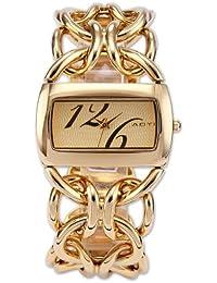 AOYI WK1035 - Reloj para mujeres, correa de acero inoxidable