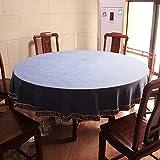 H-M-STUDIO Tischdecke Chinesischen Minimalistischen Modernen Esstisch Dekoration Stoff Sky Blue Print Durchmesser 70Cm Kreis