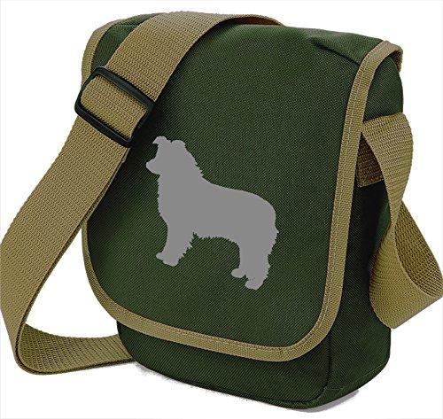 Bag Pixie - Borsa a tracolla unisex adulti Grey Dog Olive Bag