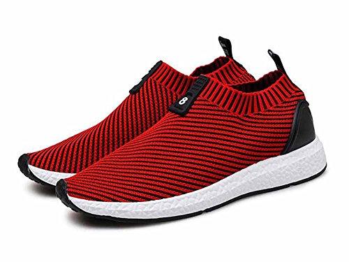 Uomini Scarpe Da Corsa 2017 Autunno Nuove Scarpe In Elastico Scarpe Sportive Casual In Bassa Scarpa Da Ballo Traspirante Red
