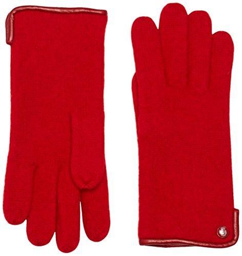 Roeckl Damen Handschuhe Klassischer Walkhandschuh 21013-101, Gr. 7.5, Rot (Red 450)