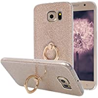 Galaxy S6 Hülle Ring, Moon mood® [Weiche TPU Abdeckung + Glitzer Papier] 2in1 Hybrid Hülle mit 360° Kickstand... preisvergleich bei billige-tabletten.eu