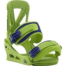 Burton Bindungen custom grassland - Fijaciones de snowboarding, color verde, talla L