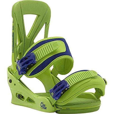 Burton Bindungen custom grassland - Fijaciones de snowboarding, color verde, talla M