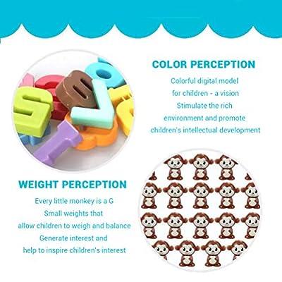 Mallalah Montessori Singe Balance Jeux Math Interlock Toys Blocs Toddler Numérique Jouet en Bois Soustraction Jeu De Société pour Enfants