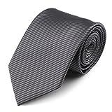Segbeauty Grau Herren Krawatte Klassische Gestreifte Krawatten, 100% Polyester Solide Hals-Krawatte, Extra Lang Formell Lässige Geschäfts Krawatte
