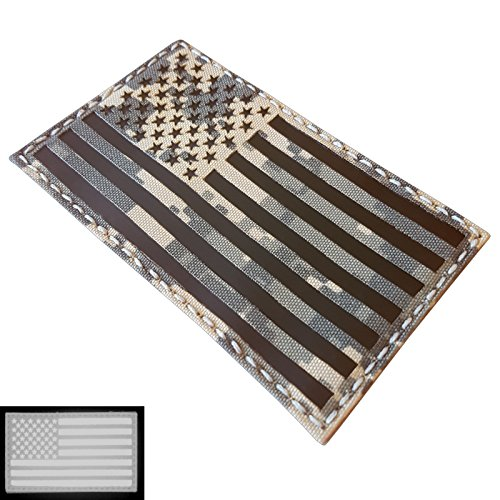 Big 3x5 ACU Infrared IR USA American Flag IFF Tactical Morale Fastener Patch - Big 3x5 Flag