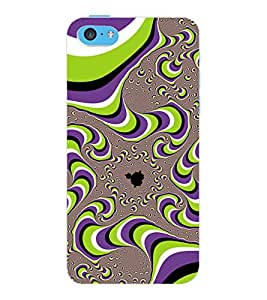 ColourCraft Pattern Design Back Case Cover for APPLE IPHONE 5C