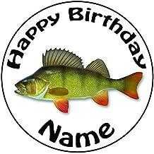 """Personalizado Pesca de Perca peces decoración para tarta para–una precortado redondo 8""""(20cm) glaseado decoración"""