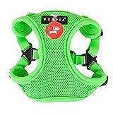 Puppia PAQA-AC1443 Hunde Geschirr, Neon Soft Harness C, medium, grün