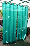 HIPPO Outdoor Eyelet Curtains - Green Co...