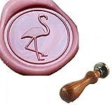 MDLG Vintage Custom Flamingos Crane Personalisierte Bild Buchstabe Logo Retro Einladung Wachs Siegel Stempel Palisander Griff Set
