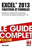 COMPLET POCHE£FONCTIONS FORMULES EXCEL 2013