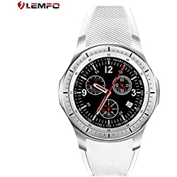 LEMFO LF16 Smart Watch Podómetro Bluetooth Monitorización del Ritmo Cardíaco Smart Watch (Color: Blanco)