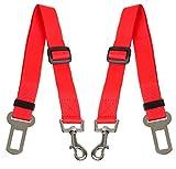 Scarlet pet | KFZ-Hundegurt »Secure III« 2 x Sicherheitsgurt zum Anschnallen von Hunden im Auto; elastischer Dämpfer/Ruckabsorber; einstellbare Länge; mit Karabinerhaken (Rot)