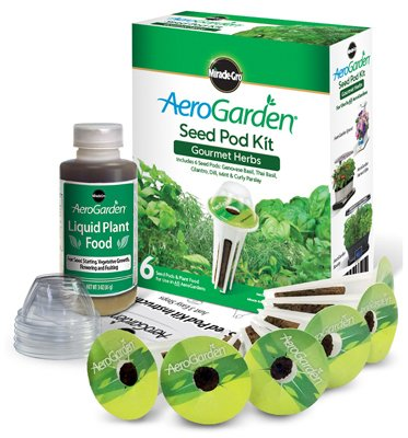 AEROGROW INTERNATIONAL INC - AeroGarden Gourmet Herb Seed Pod Kit, 6-Pk. (Pod Aerogarden 6)