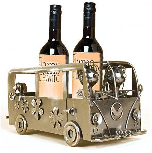 The Gift Emporium - Portabottiglie a forma di camper, per 2 bottiglie di vino