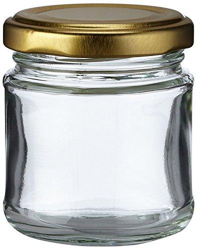 Nutley's 100ml Small Glass Jam Chutney Marmalade Jar (Pack of 90)