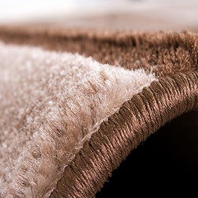 Luxury Designer Rug - Contour Cut - Geometric - Mottled Brown Beige Cream - low-cost UK light store.