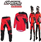 Tuta Motocross Oneal Matrix 2019 (Rosso,L/34)