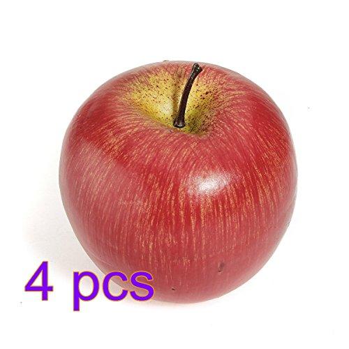 fendii 4pcs realistici artificiale mele Faux frutta moda casa partito cucina Decor