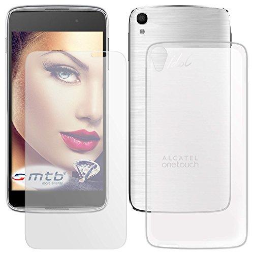 mtb more energy® Schutzglas und Schutzhülle für Alcatel OneTouch Idol 3 (5.5