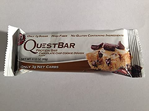 1 BAR - Quest Nutrition, Protein Bar, Chocolate Chip Cookie Dough, 2.12 oz 60 g (1 single bar)