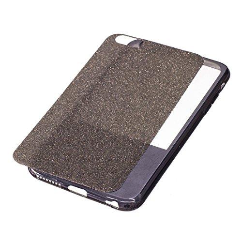Phone case & Hülle Für iPhone 6 Plus / 6s Plus, Galvanisierungsspiegel TPU Schutzhülle ( Color : Gold ) Black