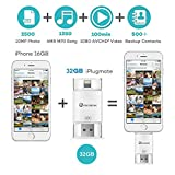 32GB iPhone USB Stick Flash Drive External Storage Memory Expansion for Apple iPhone iPod iPad Computer Mac Laptop PC