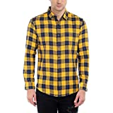 Dennis Lingo Men's Cotton Yellow Checker...