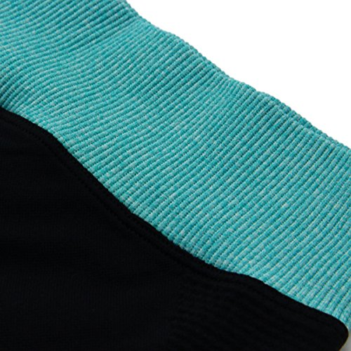 Yodensity Sport Pantalons Collants Leggings Course Fitness Pantalon Jogging Femme Noir+Vert