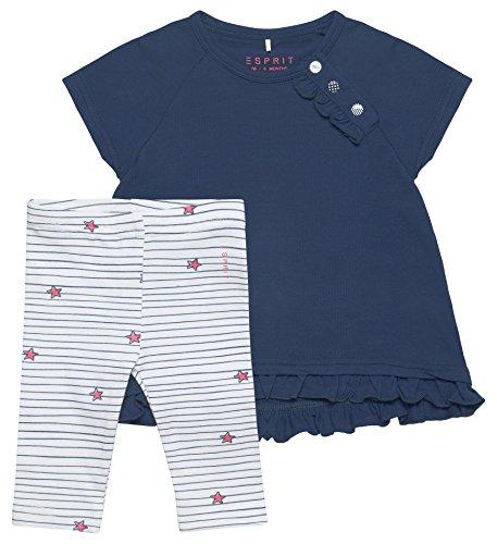 ESPRIT KIDS Baby-Mädchen Bekleidungsset RL3601102, Blau (Twilight Blue 472), 80