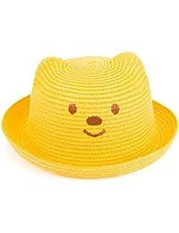 Leisial Niños Bebé Sombrero de Paja Playa Sombrero de Osoito Gorro de Sol  de Ocio al Deporte Aire Libre Verano… 43a178ba57b