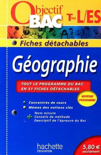 Géographie Tles L/ES : Fiches détachables