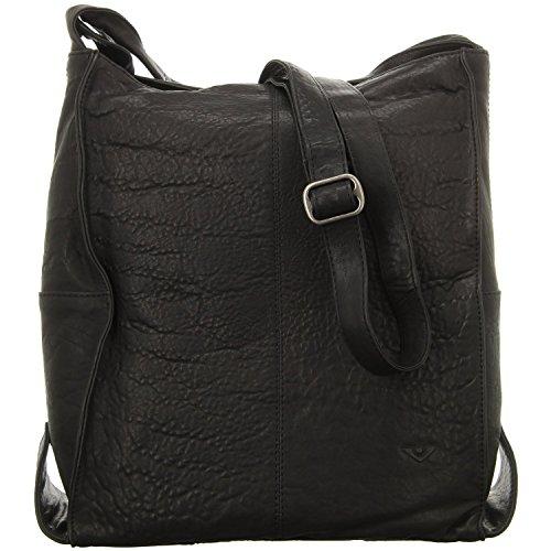 VOi Leather Design, Borsa a secchiello donna 36 x 33 x 14 cm (HxBxT) Nero