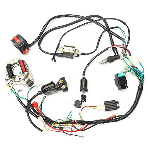 Alftek CDI Wire Harness Assembly Wiring Juego para 50 CC de 125cc Chino...