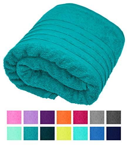 Lashuma Liege Handtücher Frottee XXL Nautic Grün, London Saunatuch - Badehandtuch, großes Duschtuch Größe: 85x200 cm