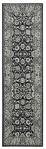 Nourison Teppich Mondrian 99446281579–Anthrazit maschinell gewebt Teppich, anthrazit, 2ft 2Zoll x 7ft 6