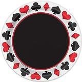 Unique Party - 49675 - Paquet de 8 Assiettes en Carton Soirée Casino - 23 cm