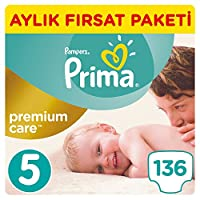 Prima Bebek Bezi Premium Care 5 Beden Junior, Beyaz