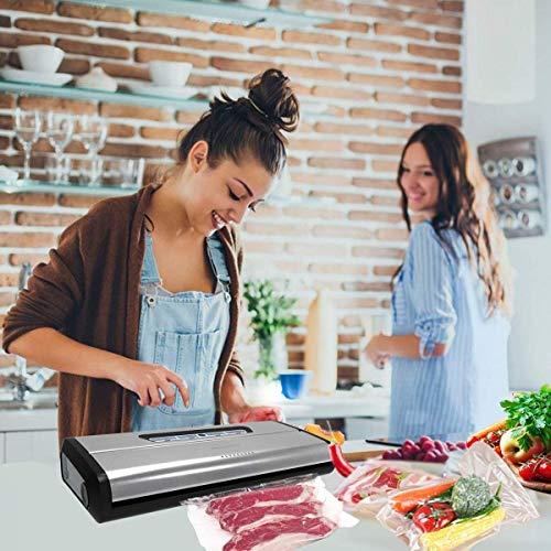[Aktualisiert] Vakuumierer, Crenova VS100S – Vakuumiergerät für Nahrungsmittel, manuelle Pausenfunktion für brüchige Lebensmittel, +10 gratis Profi-Folienbeutel - 3