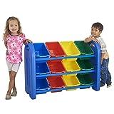 Best Kid Art Supplies - ECR4Kids 3-Tier Toy Storage Organizer for Kids, Blue Review