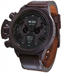 Welder by U-boat K24 Chronograph Brown Ion-Plated Steel Mens Strap Watch Calendar K24-3310