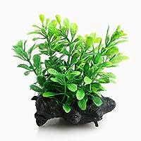 Snner Plantar un árbol Agua plástica Hierba Artificial del Ornamento de la decoración del Acuario del