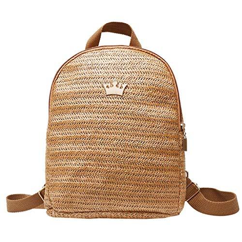 LILICAT Damen Canvas Backpack Denim School Bag Mode Spitze Rucksäcke Ladies Schultaschen (Hell Blau) Brush-denim