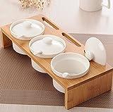 sheng Pentola in ceramica tre set di pentole per condimenti da cucina set di pentole per salsa bianca