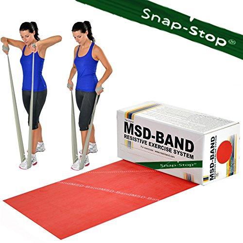 Msd fascia rossa 5,5 mt media banda elastica esercizi resistenza fitness pilates