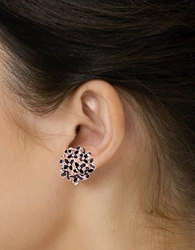 YouBella Stylish Fancy Party Wear Jewellery Gold Plated Stud Earrings for Women (Black) (YBEAR_31144)