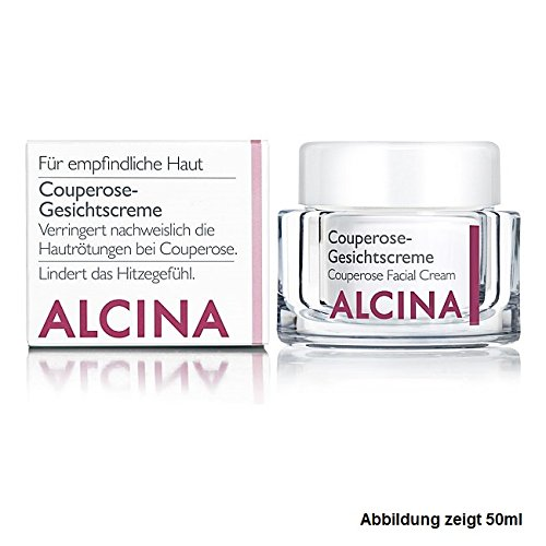 Alcina - Couperose Gesichtscreme Verringert nachweislich Hautrötungen bei Couperose - 250 ml (Visage Gesichtscreme)