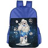 Space Astronauts Read Newspapers Kids School Shoulder Backpack Bag Children Bookbag